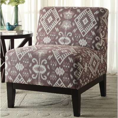 Gess Fabric Slipper Chair Upholstery: Brown Pattern