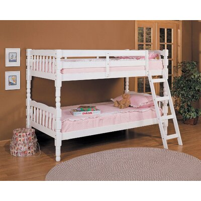 Eaddy Convertible Twin Over Twin Bunk Bed Color: White