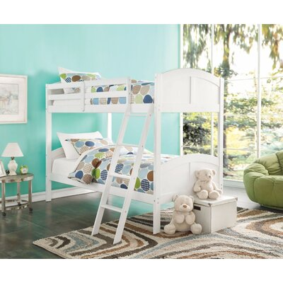 Eadie Convertible Kids Twin Over Twin Bunk Bed Color: White