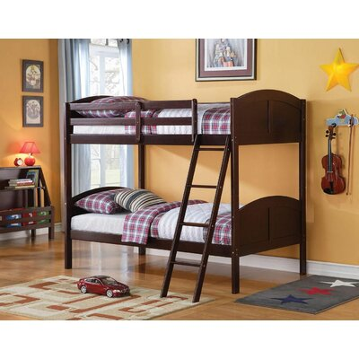 Eadie Convertible Kids Twin Over Twin Bunk Bed Color: Espresso