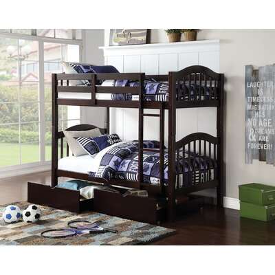 Eady Twin Over Twin Bunk Bed with Drawers