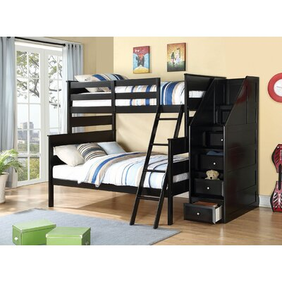 Eakin Twin Over Full Bunk Bed with Stairs