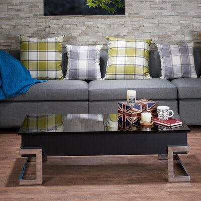 Peden Modern Lift Top Coffee Table Color: Black