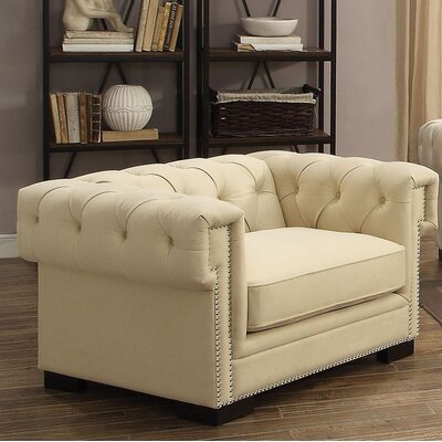 Lesko Club Chair Upholstery: Cream