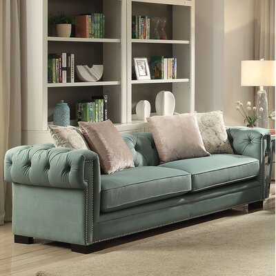 Lesure Sofa Upholstery: Green