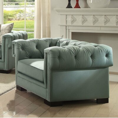 Lesko Club Chair Upholstery: Green