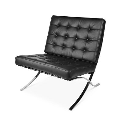 Mccallum Lounge Chair Upholstery: Black
