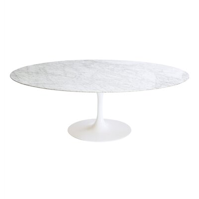 Modern Marble Dining Table Size: 30 H x 48 W x 48 D