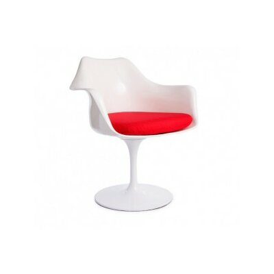 Modern Barrel Chair Upholstery: Red
