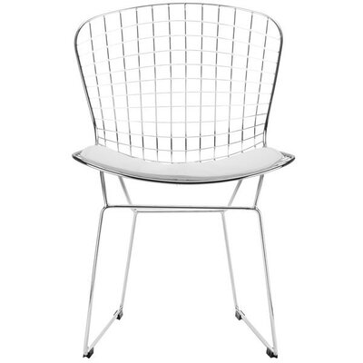 Bertoia Inspired Side Chair Upholstery: White