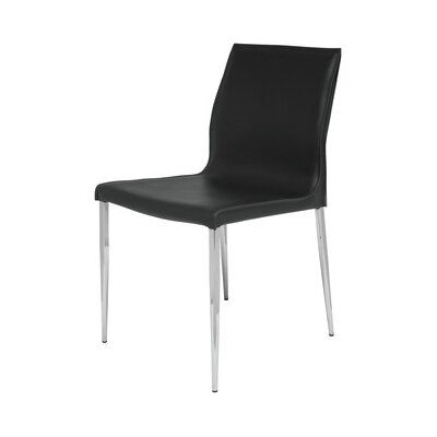 Trendy Side Chair Upholstery: Black