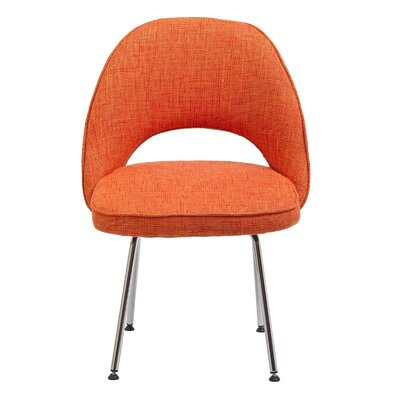Executive Side Chair Upholstery: Orange