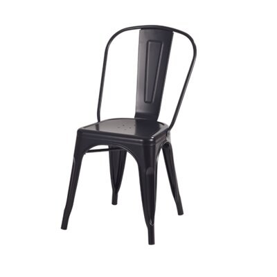 Industrial Side Chair Finish: Black
