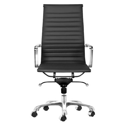 Toni High Back Leather Executive Chair Upholstery: Black C2A-3010 Black