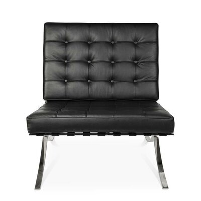 Pavillion Slipper Chair Upholstery: Black