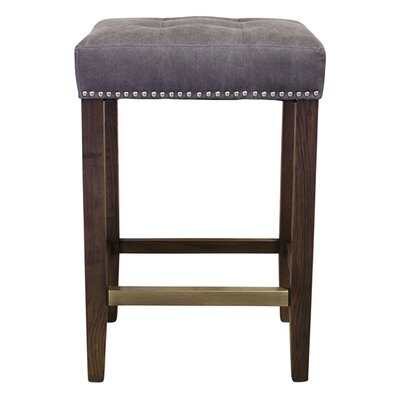 Belham 30 Bar Stool Upholstery: Gray