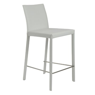 Linda 26 Bar Stool Upholstery: White