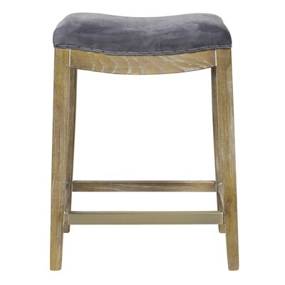 "26"" Bar Stool Upholstery: Gray"