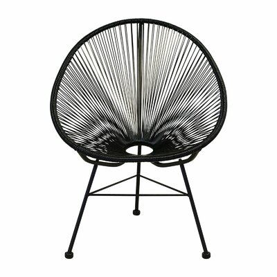 Bradley Papasan Chair Finish: Black