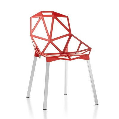 Web Side Chair Finish: Red