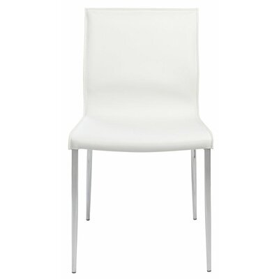 Trendy Parsons Chair Upholstery: White