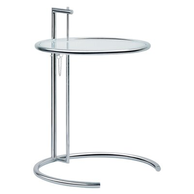 Eileen Adjustable Glass End Table