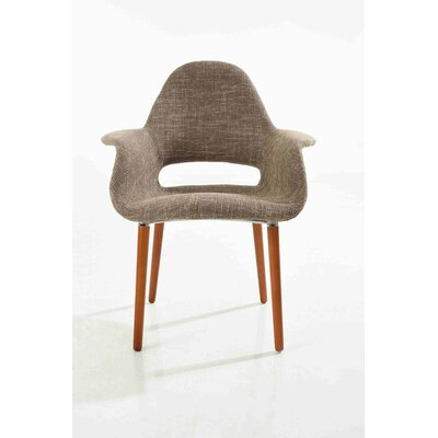 Organic Armchair Upholstery: Taupe