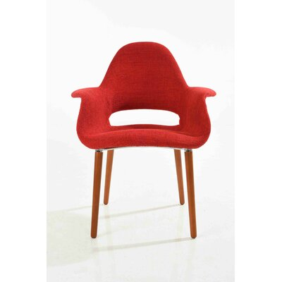 Organic Armchair Upholstery: Red