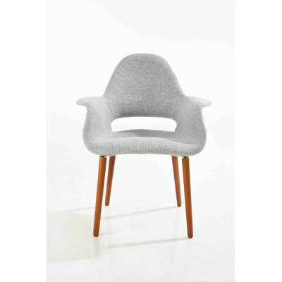 Organic Arm Chair Upholstery: Gray