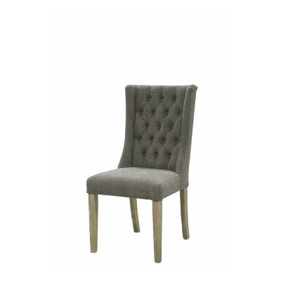 Auberto Upholstered Dining Chair Upholstery Color: Gray