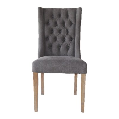 Tribecca Florence Upholstered Dining Chair Upholstery: Gray