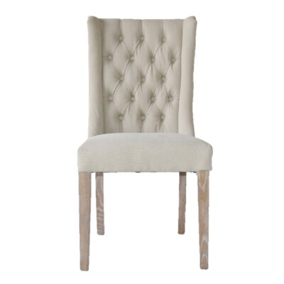 Tribecca Florence Upholstered Dining Chair Upholstery: Beige