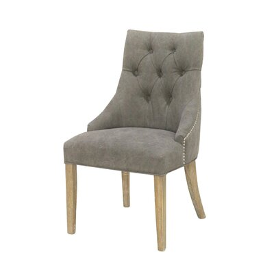 Nailsworth Elizabeth Upholstered Dining Chair Finish: Gray
