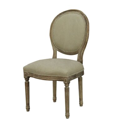Galaxy French Louis Oval dining Chair Upholstery: Beige