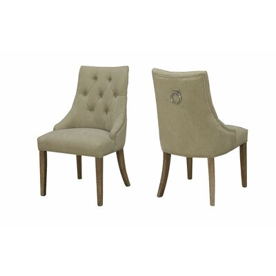 Nailsworth Elizabeth Upholstered Dining Chair Finish: Beige