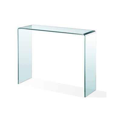 Waterfall Glass Console Table