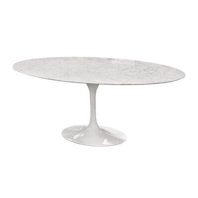 Marble Dining Table Size: 30 H x 68 W x 36 D