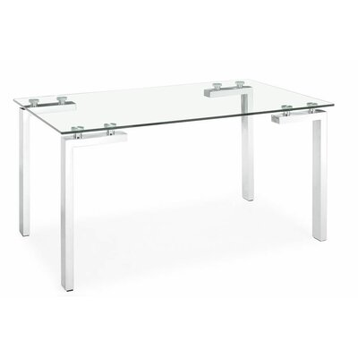 Brinda Glass Dining Table Size: 30 H x 36 W x 60 D