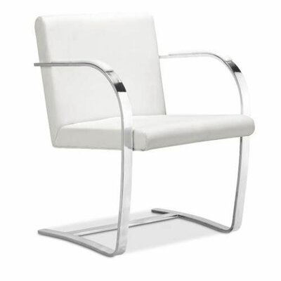 Flat Bono Arm Chair Upholstery: White