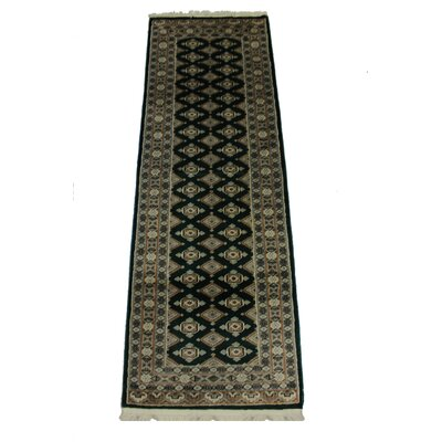 Ballintoy Silk Touch Handmade Cream/Black Area Rug