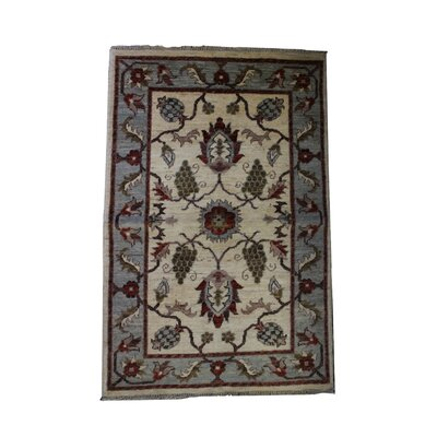 Ballinderry Handmade Gray/Tan Area Rug