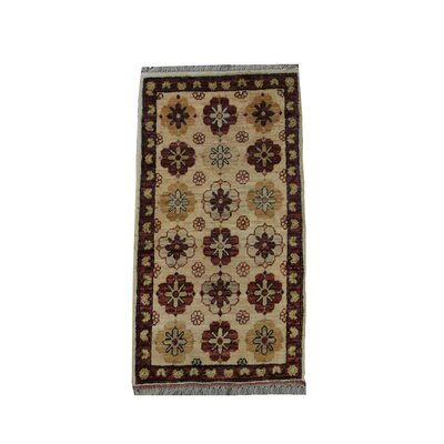 Rolland Handmade Red/Tan Area Rug