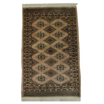 Ballintoy Silk Touch Handmade Brown/Black Area Rug