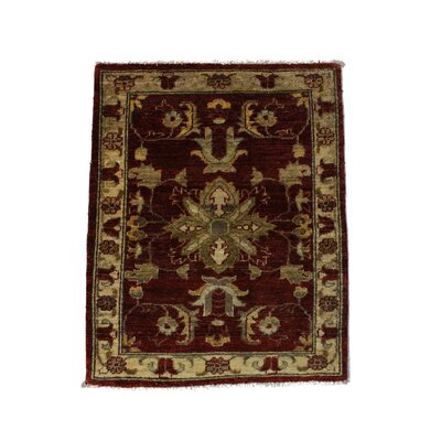 Rolland Hand Woven Red/Brown Border Area Rug