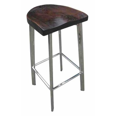 Fiona Rustic Wood 30 Bar Stool