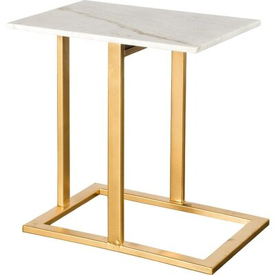 Alshain End Table Finish: Gold