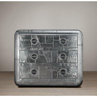 Leona Aviator 3 Drawer Dresser
