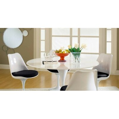 Kemble Marble 5 Piece Dining Set Upholstery Color: Black