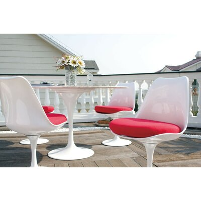Kemble Marble 5 Piece Dining Set Upholstery Color: Red