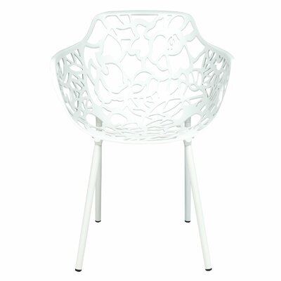 Avelar Metal Dining Chair Color: White